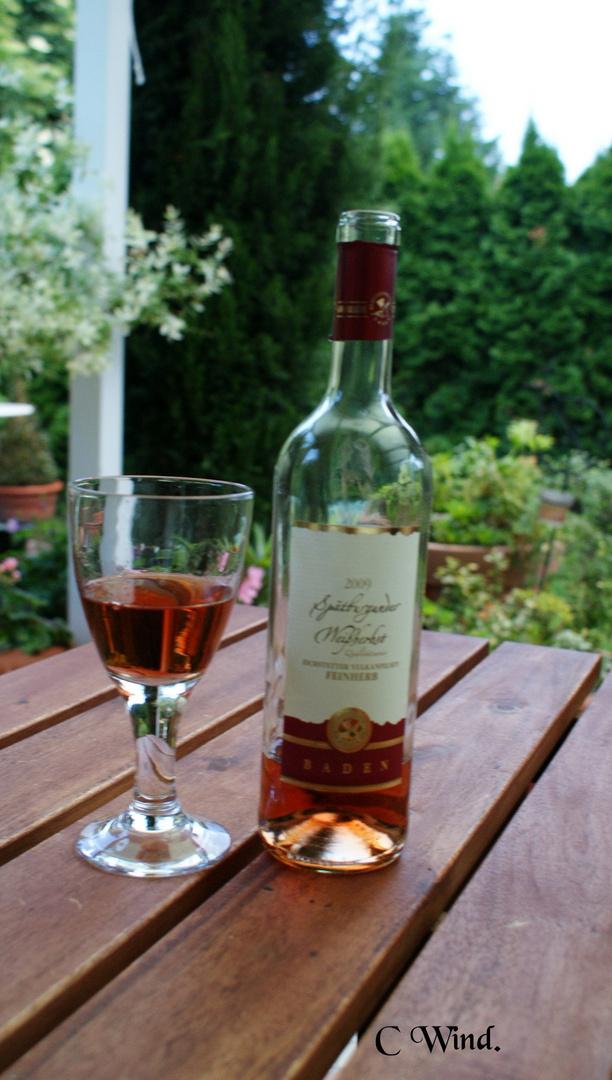 Flasche Wein.
