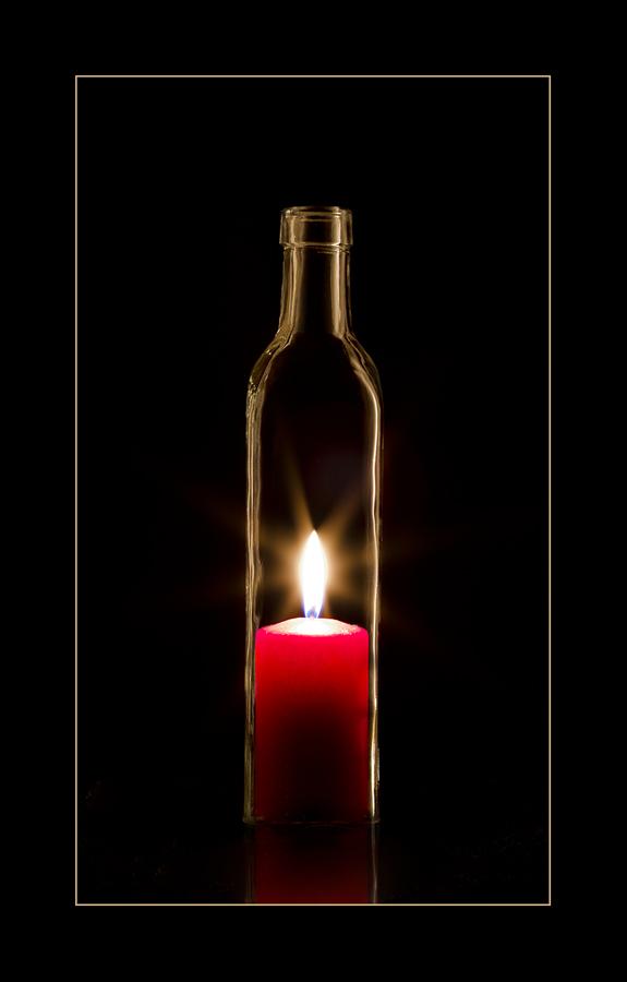 Flaschen Kerze