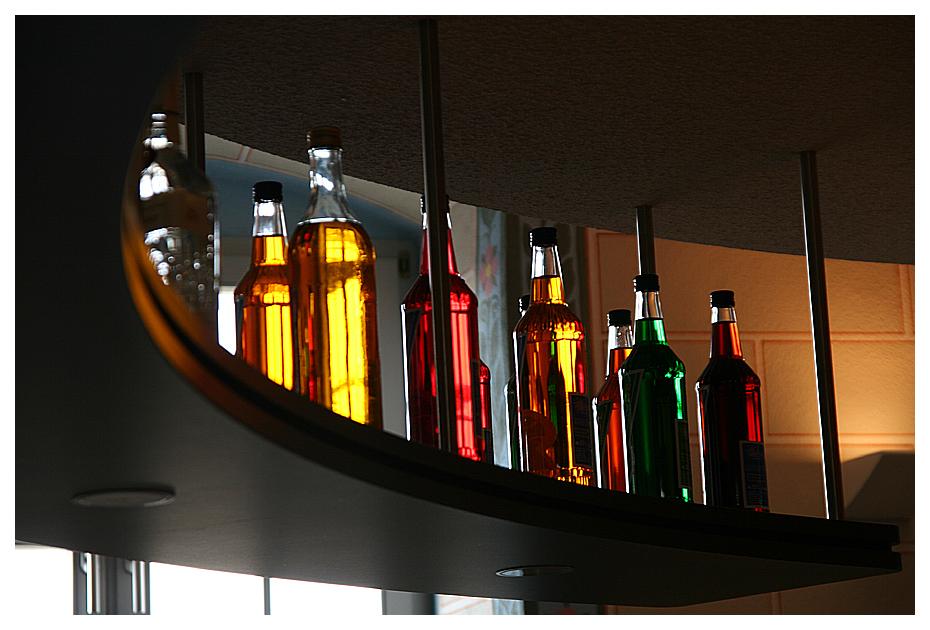 Flaschengalerie...