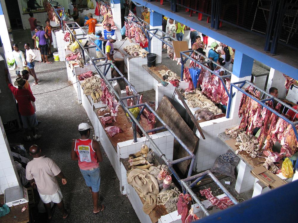 Fleischmarkt in Cachoeira