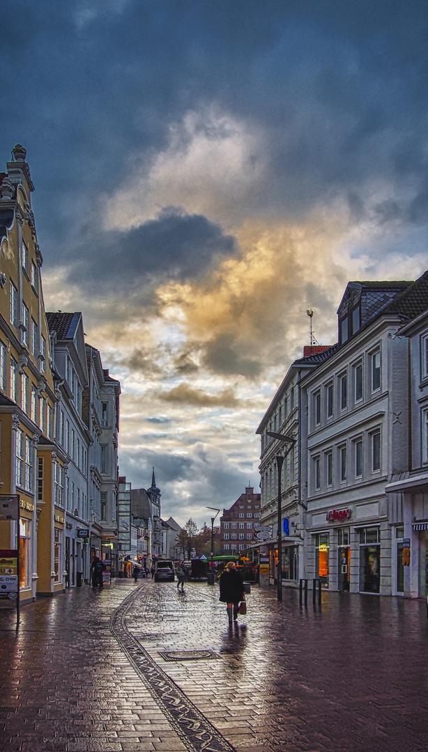 Flensburg nach kräftigem Regen