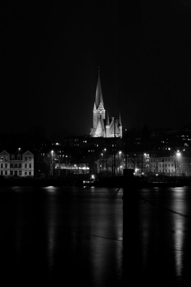 Flensburg schwarz wei foto bild architektur stadtlandschaft stadtlandschaften bei nacht - Architektur flensburg ...