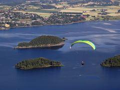 Fliegen über den See