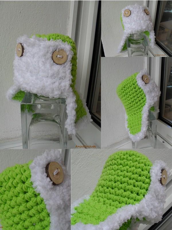 Fliegermütze in grün
