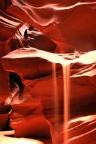 fließender Sand im Upper Antelope Canyon
