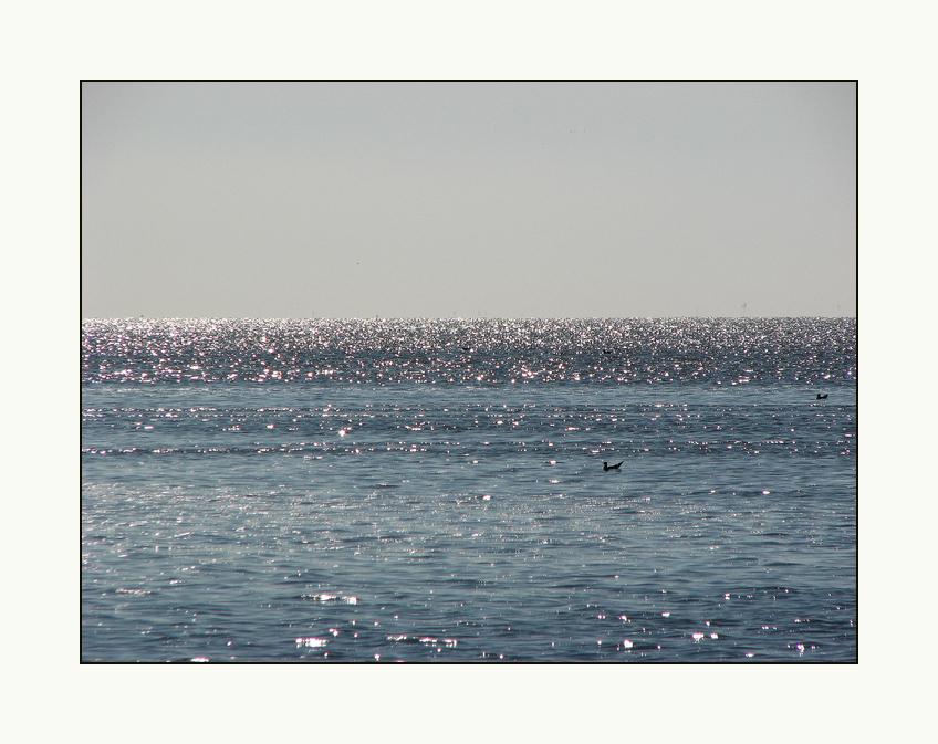Flimmern über dem Meer