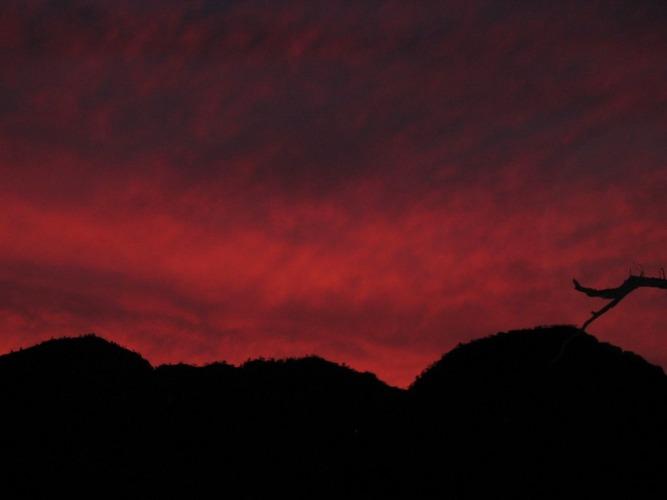 Flinders Range at night