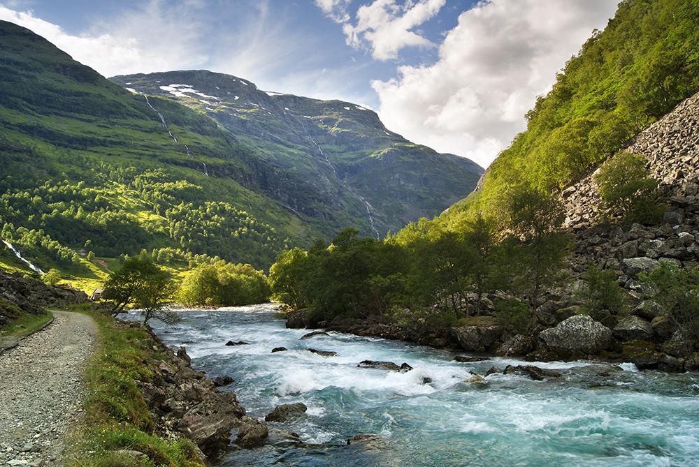 Flåmsdal in Norwegen