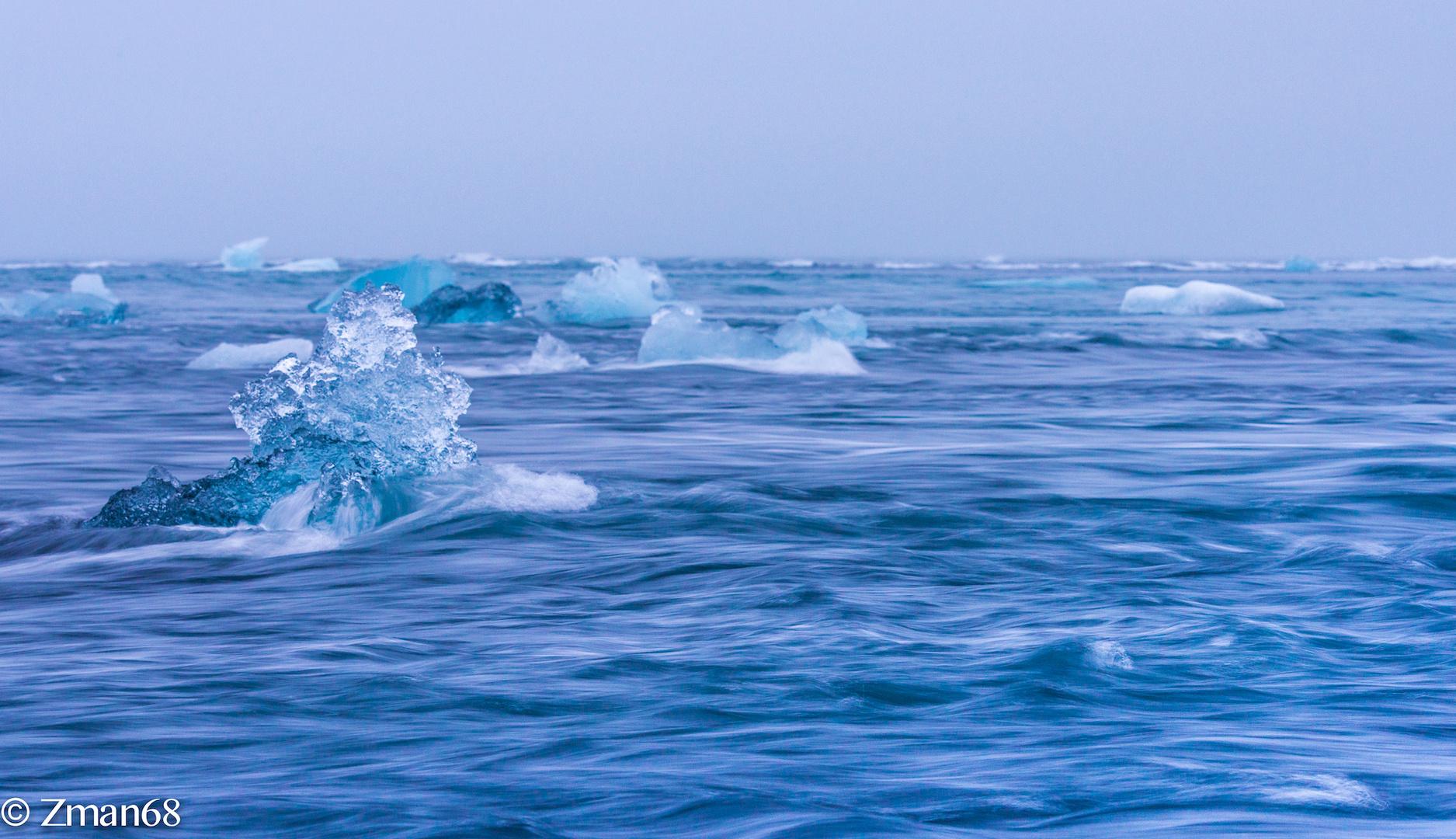 Floating Ice , Iceland