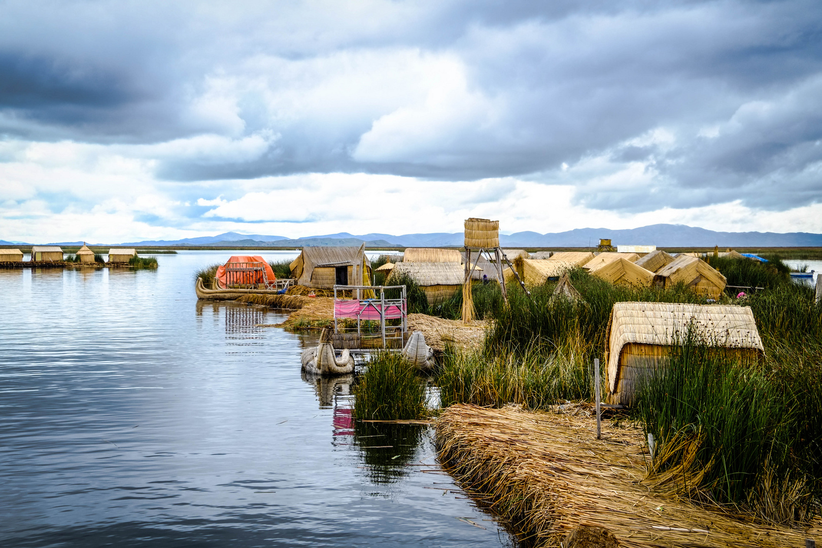 Floating Village on Titicaca Lake