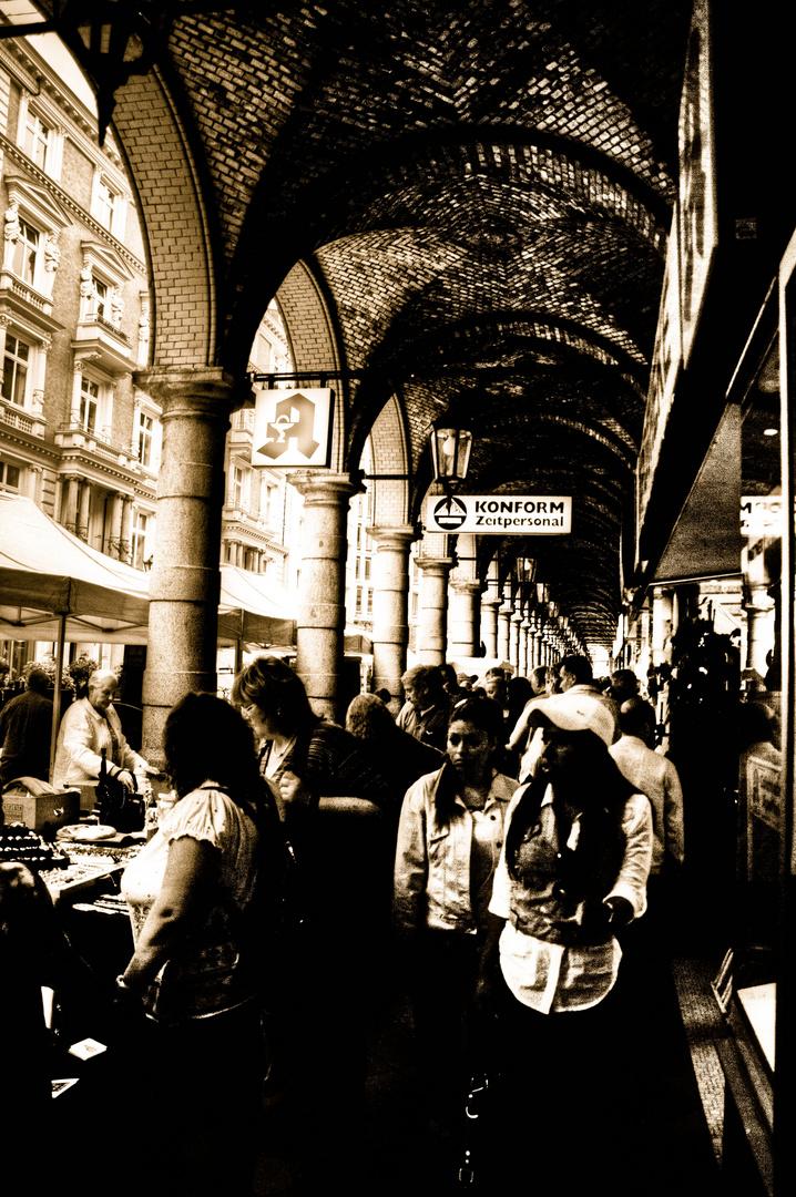 Flohmarkt in den Colonaden