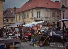 Flohmarkt in einer sehr alten Stadt