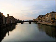 Florence. couchant sur l'Arno