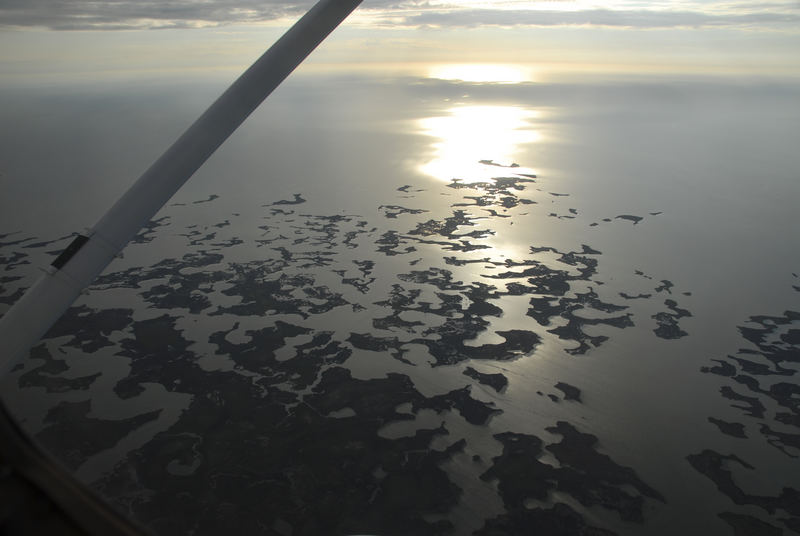 Florida from the plane