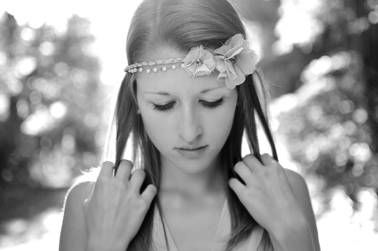 flower girl in the woods