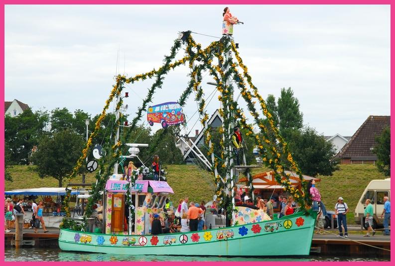Flowerpowerkutter in Büsum Sommer 2008