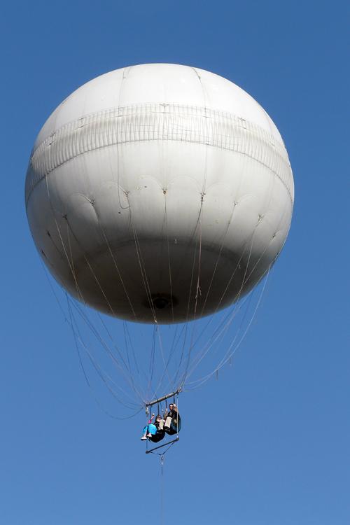 Flug im Heißluftballon über Prag