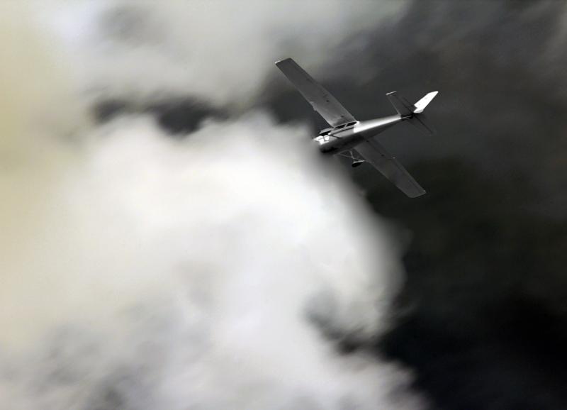 Flug in die Wolken 01