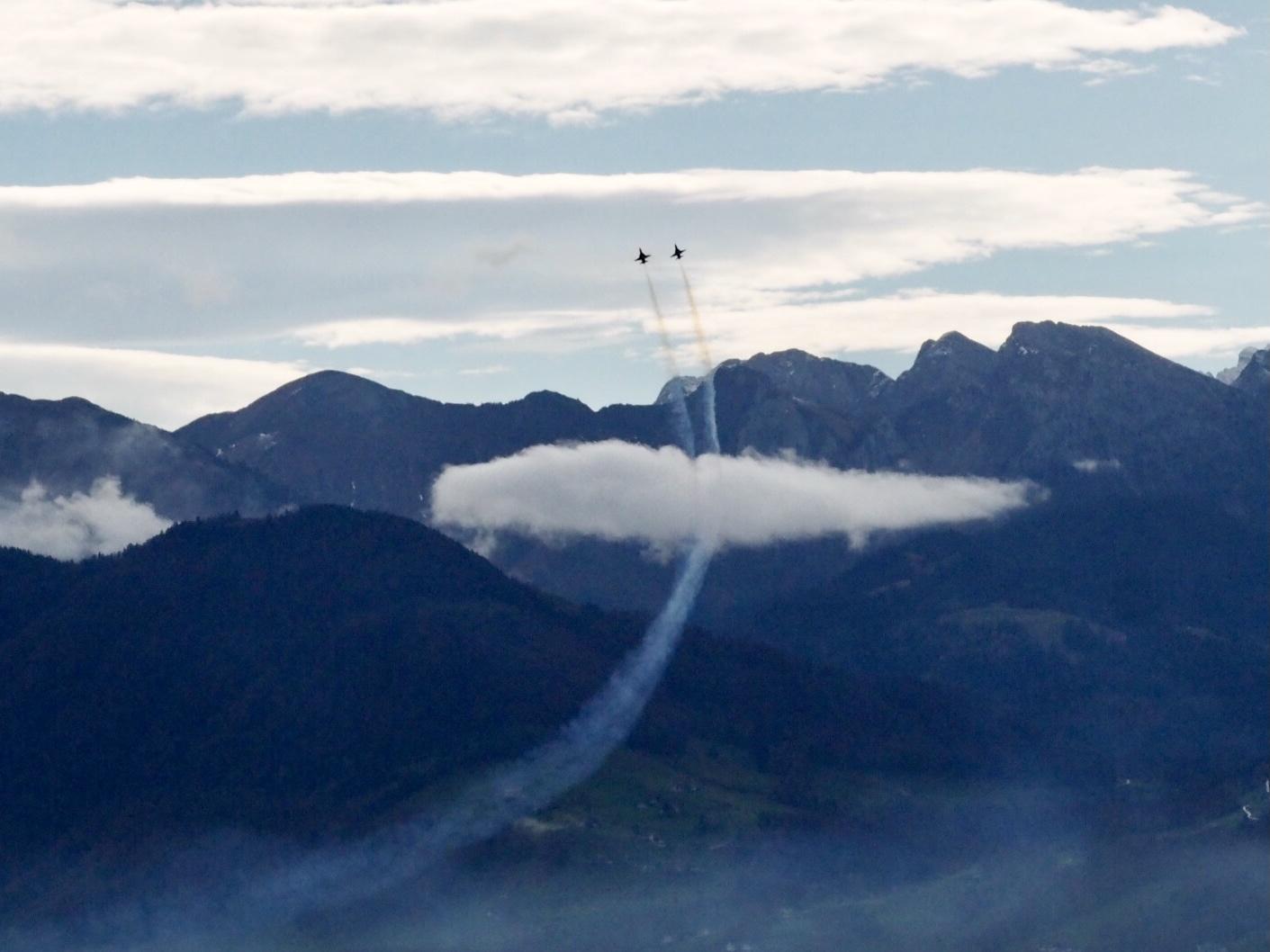 Flug-Training Patrouille Suisse