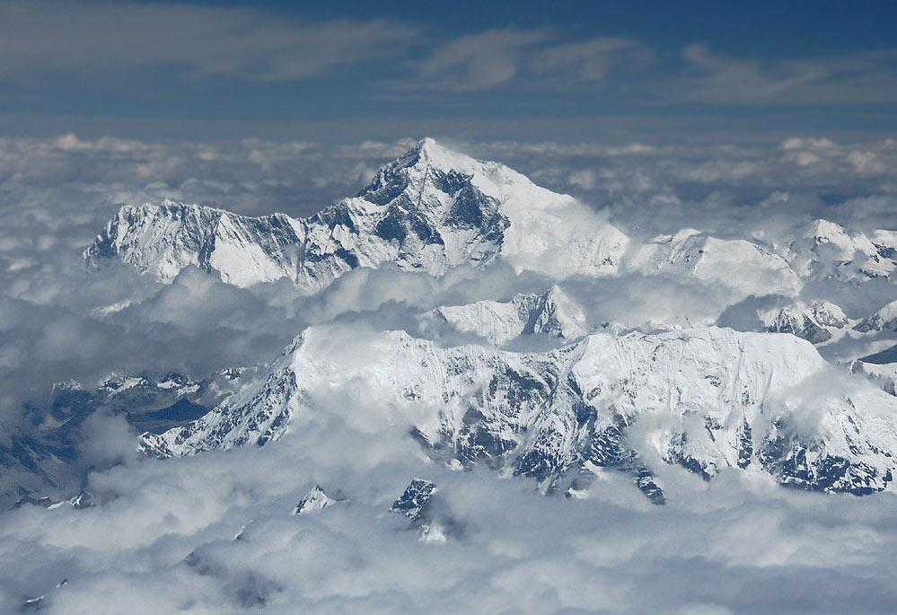 Flug über den Himalaya