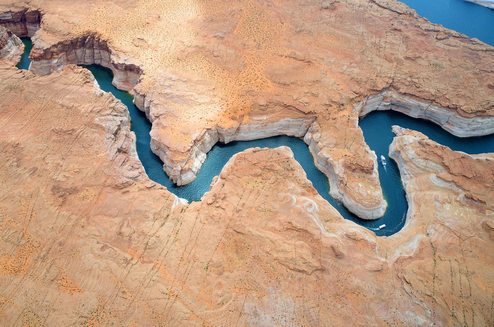 Flug über den Lake Powell