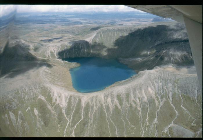 Flug über den Mt. Ngauruhoe im Tongariro N.-Park
