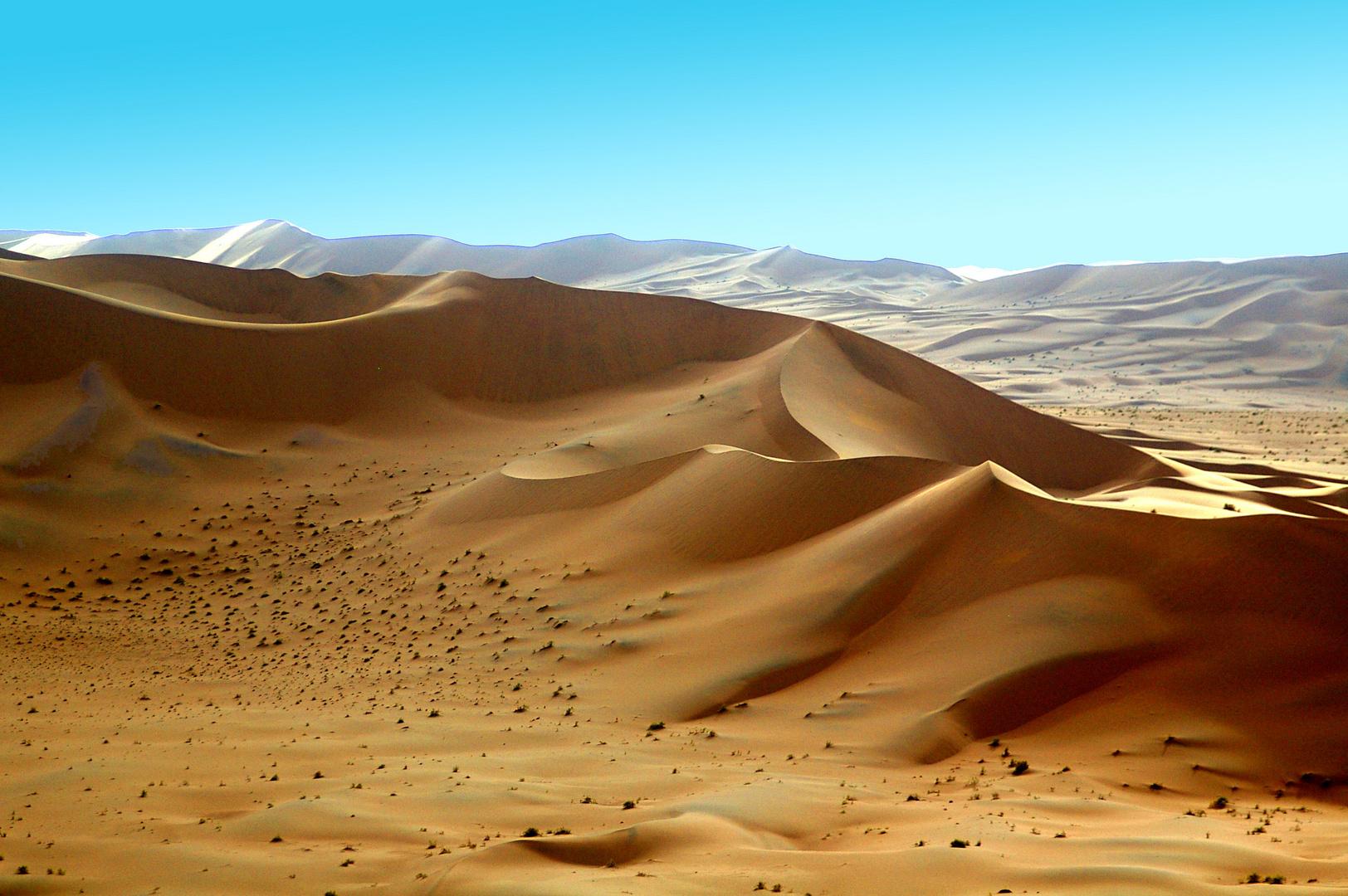 Flug über Dünen