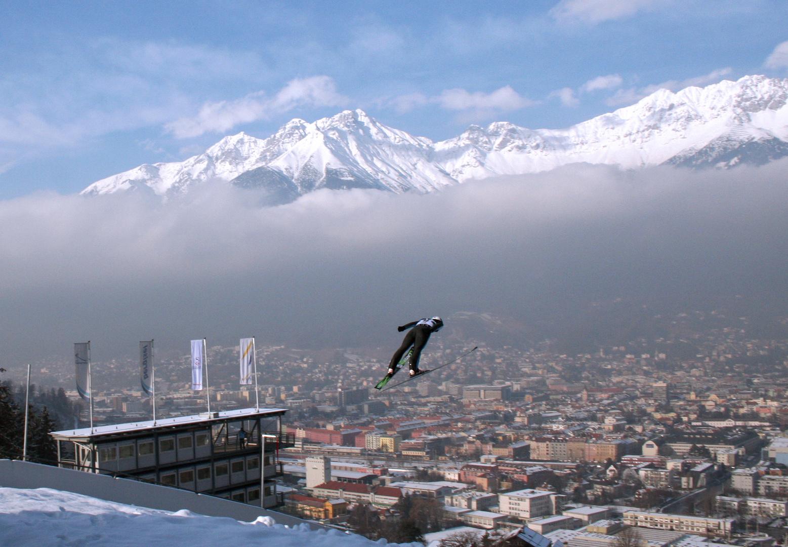 Flug über Innsbruck