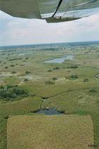 Flug über Okavango Delta