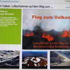 Flug zum Vulkan