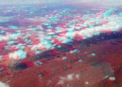 Flugbild 3D Ayers Rock ->Sydney
