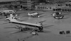 Flughafen Schiphol in den 1960gern (1)
