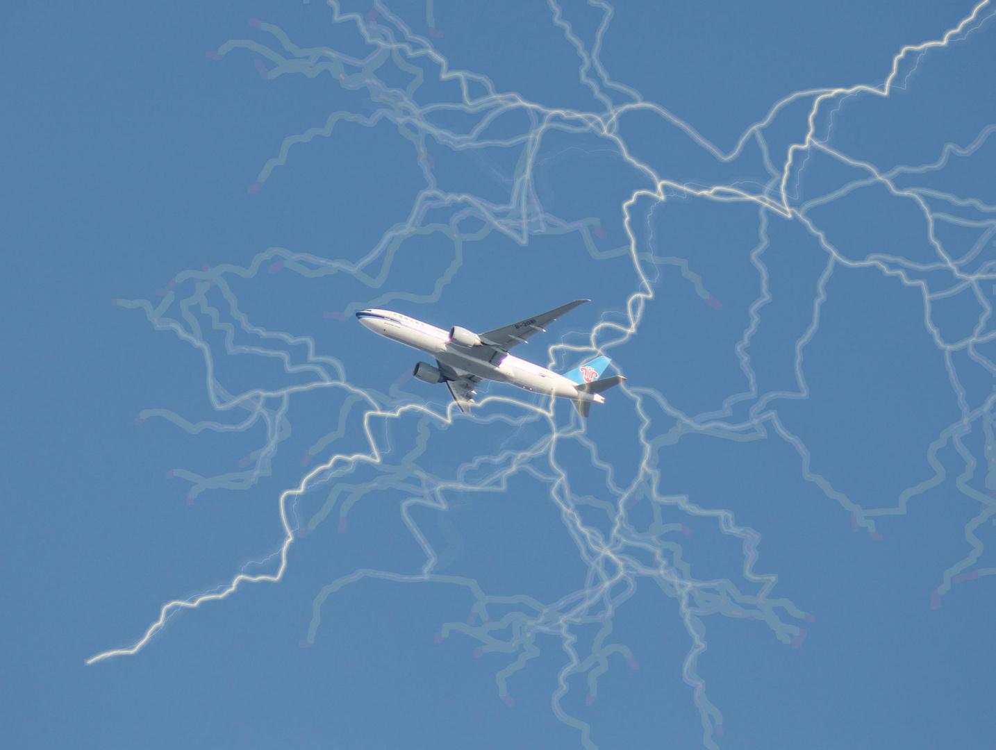 Gewitter Flugzeug