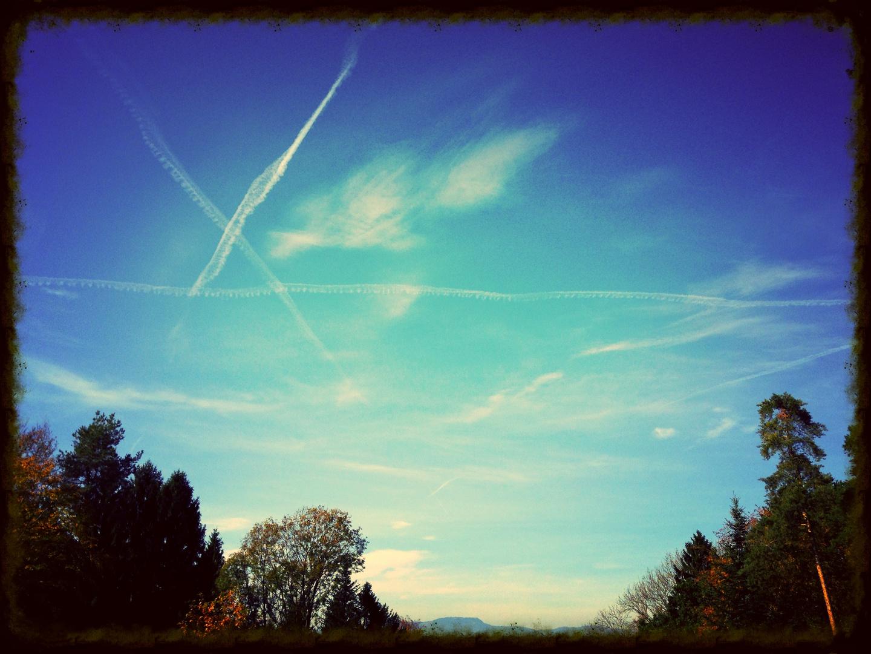 Flugzeug Spuren