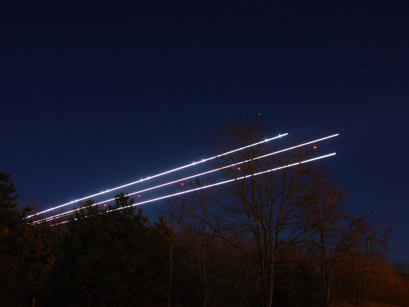Flugzeug - unsichtbar