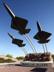 Flugzeugmuseum in Tucson - der monumentale Eingang