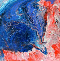 Fluid Painting - Abstrakte Malerei in Acryl