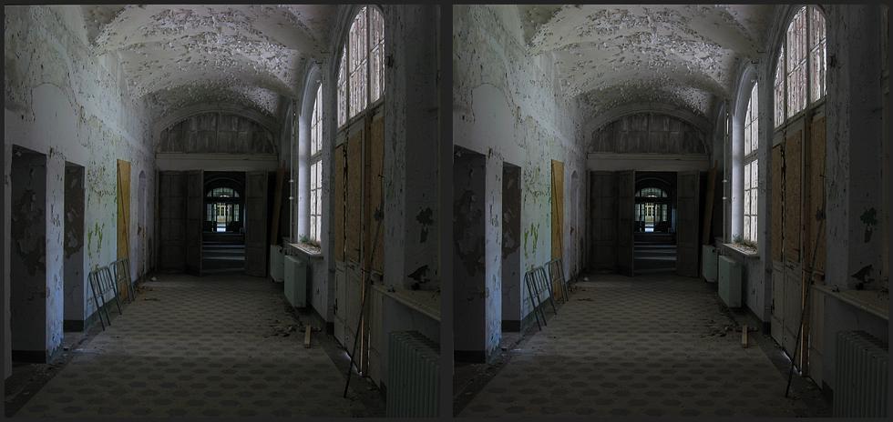 Flur an der Sporthalle der Heilstätten Beelitz
