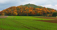 Flur im Herbst mit Hügel