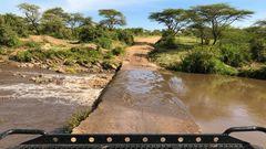Fluss-Durchfahrt