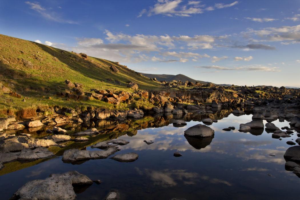 Fluß in der Mongolei