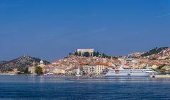 Fluss Krka & Altstadt, Sibenik, Dalmatien, Kroatien