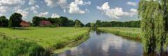 Fluss Landschaft in Niedersachsen