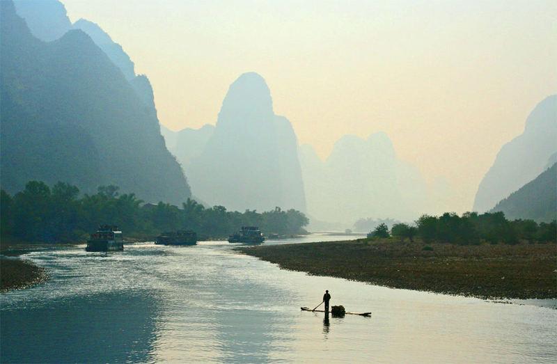 Fluss-Li bei Guilin ( Guangzhou ( Kanton))