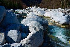 Fluss Mera im Bergell