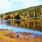 Fluss Piteälv im Ort Vidsel