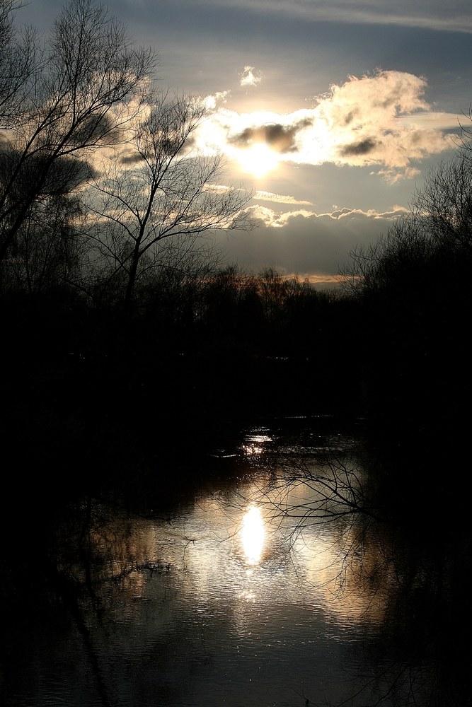 Fluss Silhouette