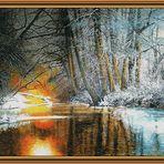 Flußaue bei Sonnenuntergang (2008)