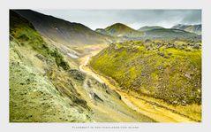 Flussbett In Den Highlands Von Island