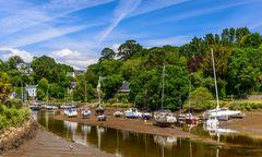 Flusshafen bei Ebbe, Pont-Aven, Bretagne, France